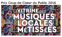 Prix coup de coeur du public 2016 - La vitrine des musiques locales métissées